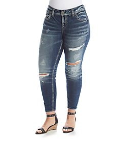 Silver Jeans Co. Plus Size Mid Ankle Skinny Jeans