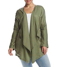 Jessica Simpson Plus Size Drape Front Jacket