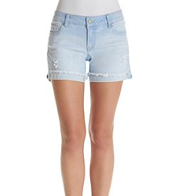 Celebrity Pink Flip Fray Cuff Shorts
