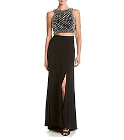 Morgan & Co.® Two-Piece Beaded Top Dress