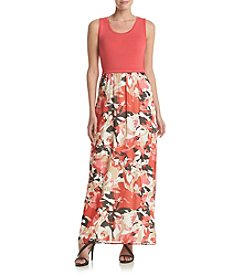 Calvin Klein Printed Skirt Maxi Dress