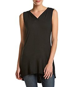 Cable & Gauge® Hooded V-Neck Tunic