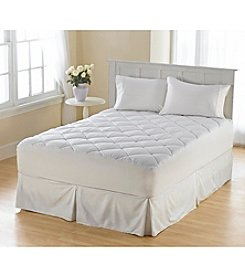 Perfect Fit® 300-Thread Count Dobby Sateen Box Cotton Flexwall Mattress Pad