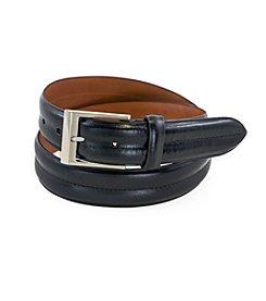 Bryant Park Double Barrel Leather Belt