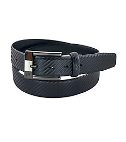 FlyBelt Carbon Fiber Leather Belt with Interchangeable Buckle