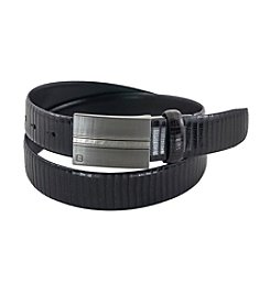 FlyBelt Reptile Print Leather Belt with Interchangeable Buckle
