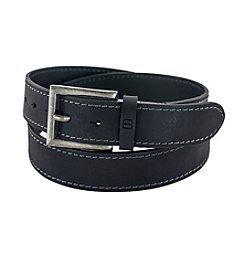 FlyBelt Burnished Leather Jean Belt with Interchangeable Buckle