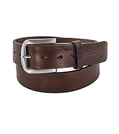 FlyBelt Distressed Leather Jean Belt with Interchangeable Buckle