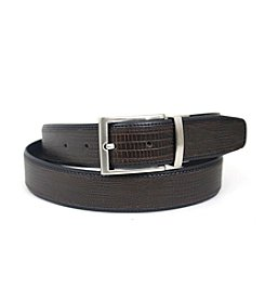 Isaac Mizrahi® Lizard Grain Inlay Reversible Belt
