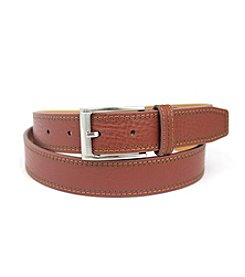Isaac Mizrahi® Pebble Grain Leather Belt