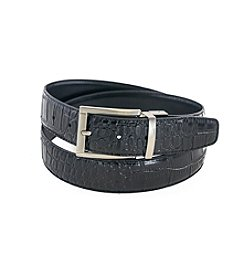 Isaac Mizrahi® Embossed Crocodile Reversible Belt