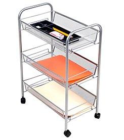 Mind Reader 'Roll'  Rolling 3-Shelf Cart