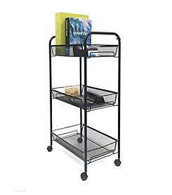 Mind Reader 'Roll'  Tall Rolling 3-Shelf Cart