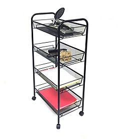 Mind Reader 'Roll' Rolling 4-Shelf Cart