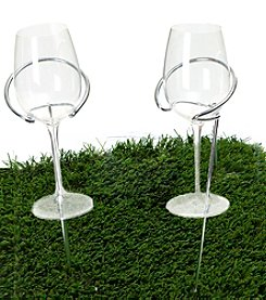 Mind Reader 'Picnic' 5-Piece Wine Bottle and Glass Holder Stick Set