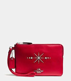 COACH BOXED WESTERN RIVETS SMALL WRISTLET IN CALF LEATHER