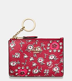 COACH BOXED MINI SKINNY IN WILD HEARTS PRINT COATED CANVAS