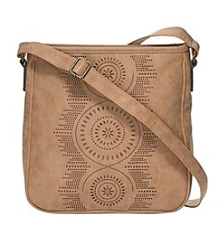 Ruff Hewn Faux Suede Perforated Crossbody