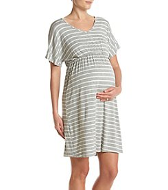 Three Seasons Maternity™ Cap Sleeve V Neck Stripe Dress
