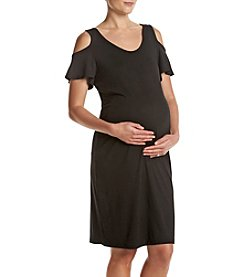 Three Seasons Maternity™ Cold Shoulder Dress