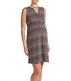 Three Seasons Maternity™ Sleeveless Crossover Print Dress