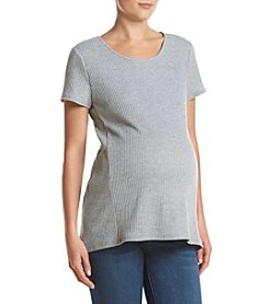Three Seasons Maternity™ Short Sleeve Waffle Knit Top