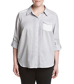 Alfred Dunner® Plus Size Uptown Girl Woven Shirt