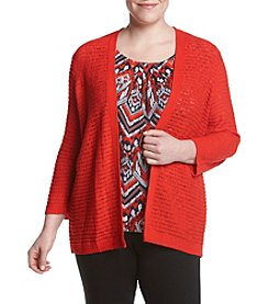 Alfred Dunner® Plus Size Uptown Girl Layered Look Sweater