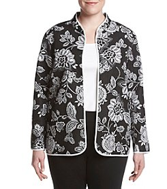 Alfred Dunner® Plus Size City Life Floral Quilted Jacket