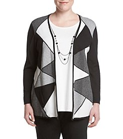 Alfred Dunner® Plus Size City Life Layered Look Sweater