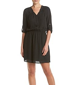 DR2 by Daniel Rainn™ Pleated Shirt Dress