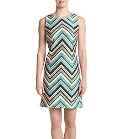 Taylor Dresses Stripe Scuba Sheath Dress