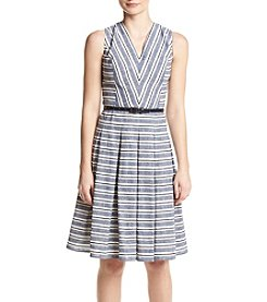 Tommy Hilfiger® Belted Stripe Dress
