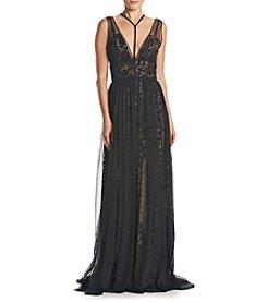 Vera Wang® Sheer Overlay Dress