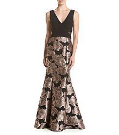 Xscape Brocade Mermaid Dress