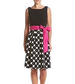 Jessica Howard® Dot-Skirt Dress