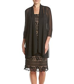 R&M Richards® Jacket And Corded Lace Dress