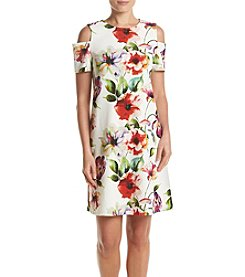 Ronni Nicole® Floral Cold Shoulder Dress
