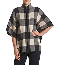 Jones New York® Plaid Poncho
