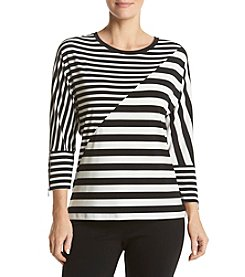 Calvin Klein Mixed Stripe Dolman Top