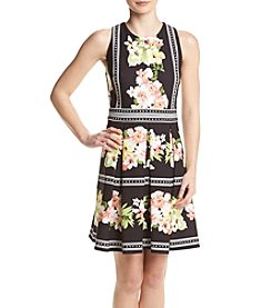 Gabby Skye® Floral Fit And Flare Swing Dress