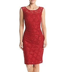 Connected® Lace Sheath Dress