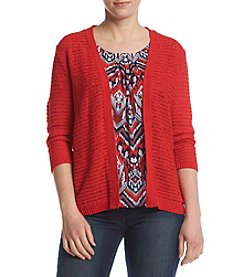 Alfred Dunner® Petites' Zig Zag Inner Layered-Look Sweater