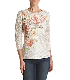 Alfred Dunner® Petites' Floral Lace Top
