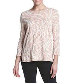 Alfred Dunner® Petites' Space Dye Swirl Tunic Top