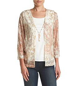 Alfred Dunner® Petites' Paisley Skin Layered Look Top