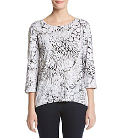 Alfred Dunner® Petites' Monotone Asymmetrical Knit Top