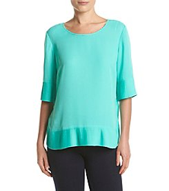 Relativity® Pleated Trim Blouse