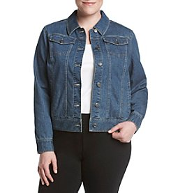 Relativity® Plus Size Denim Jacket