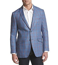 Tallia Orange Men's Windowpane Medium Sport Coat
